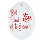 Bouquet Groom's Best Friend Oval Ornament