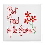 Bouquet Groom's Best Friend Tile Coaster
