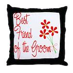 Bouquet Groom's Best Friend Throw Pillow