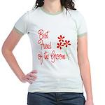 Bouquet Groom's Best Friend Jr. Ringer T-Shirt