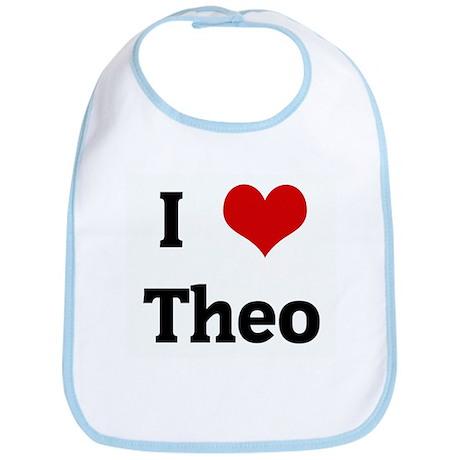 I Love Theo Bib