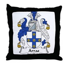 Arras Family Crest Throw Pillow