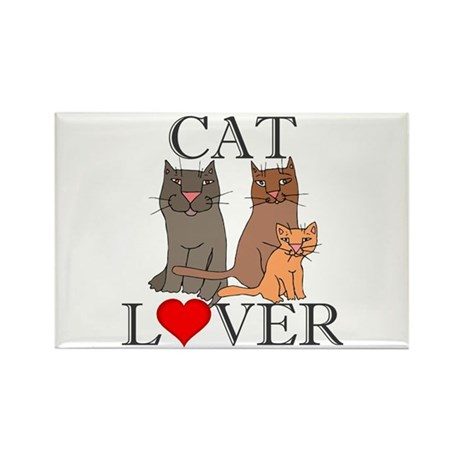 Cat Lover Rectangle Magnet (10 pack)