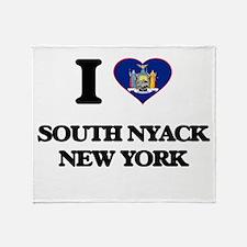 I love South Nyack New York Throw Blanket