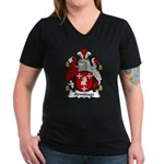 Armitage Family Crest Women's V-Neck Dark T-Shirt
