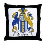 Armiger Family Crest  Throw Pillow