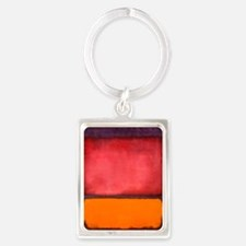 ROTHKO ORANGE RED PURPLE Keychains