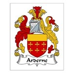 Arderne Family Crest Small Poster