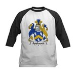 Appleyard Family Crest  Kids Baseball Jersey