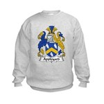 Appleyard Family Crest  Kids Sweatshirt