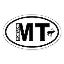 Montana Elk Oval Decal