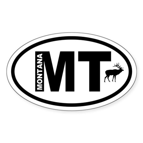 Montana Elk Oval Sticker