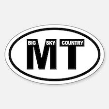 Montana Big Sky Oval Decal