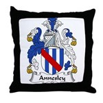 Annesley Family Crest Throw Pillow