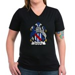 Annesley Family Crest Women's V-Neck Dark T-Shirt