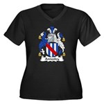 Annesley Family Crest Women's Plus Size V-Neck Dar