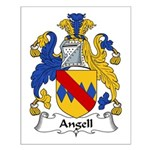 Angell Family Crest Small Poster