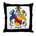 Angell Family Crest Throw Pillow