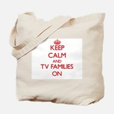Keep Calm and Tv Families ON Tote Bag