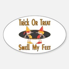 Trick-or-treat Oval Decal
