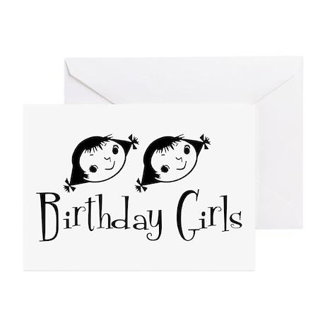 Retro Birthday Girls Greeting Cards (Pk of 20)