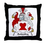Andesley Family Crest Throw Pillow
