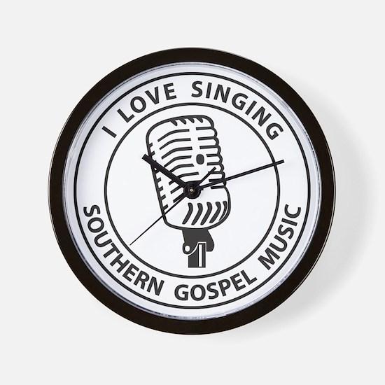 """I Love Singing SGM""  Wall Clock"