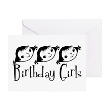 Retro Birthday Girls Greeting Card