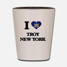 I love Troy New York Shot Glass