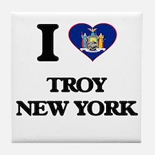 I love Troy New York Tile Coaster