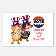 Long & Short Dachshunds Vote Postcards (Package of