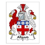 Allgood Family Crest  Small Poster