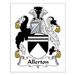 Allerton Family Crest Small Poster