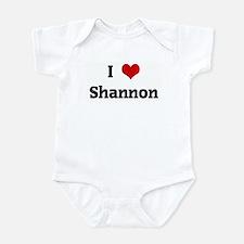 I Love Shannon Onesie