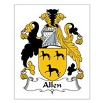 Allen Family Crest Small Poster