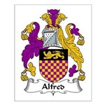 Alfred Family Crest Small Poster