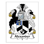 Alexander Family Crest Small Poster
