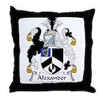 Alexander Family Crest Throw Pillow