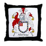 Aldridge Family Crest  Throw Pillow