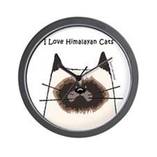 I Love Himalayan Cats Wall Clock