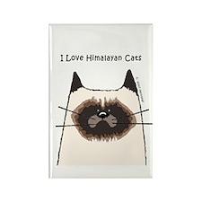 I Love Himalayan Cats Rectangle Magnet