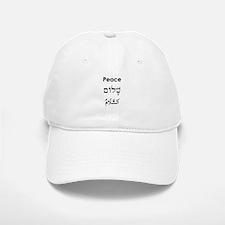 Peace - English, Hebrew, Arab Baseball Baseball Cap