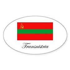 Transnistria - Flag Oval Decal