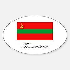 Transnistria - Flag Oval Decal