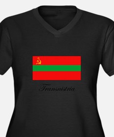 Transnistria - Flag Women's Plus Size V-Neck Dark