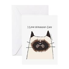 I Love Himalayan Cats Greeting Card