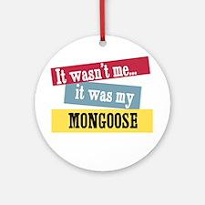 Mongoose Ornament (Round)