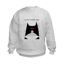 I Love Tuxedo Cats Sweatshirt
