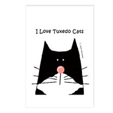 I Love Tuxedo Cats Postcards (Package of 8)