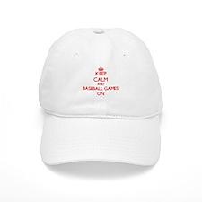 Keep Calm and Baseball Games ON Baseball Cap